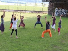 Yoga Videoclip Dreh mit Oktokopter