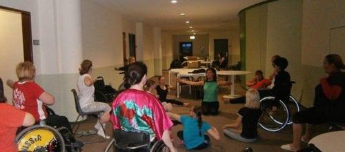 Yoga für Weltmeister in Rollstuhltanz